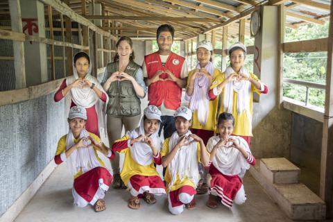 Girls Bangladesh lifesaving skills