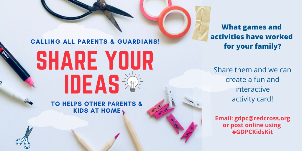 do you have tips, games or ACTIVITIES that have worked for your family_ Share your activities and we can create a fun and interactive activity card!